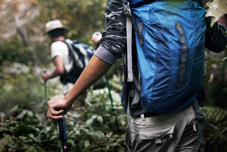 zaino per trekking montagna