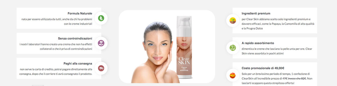 clear skin benefici